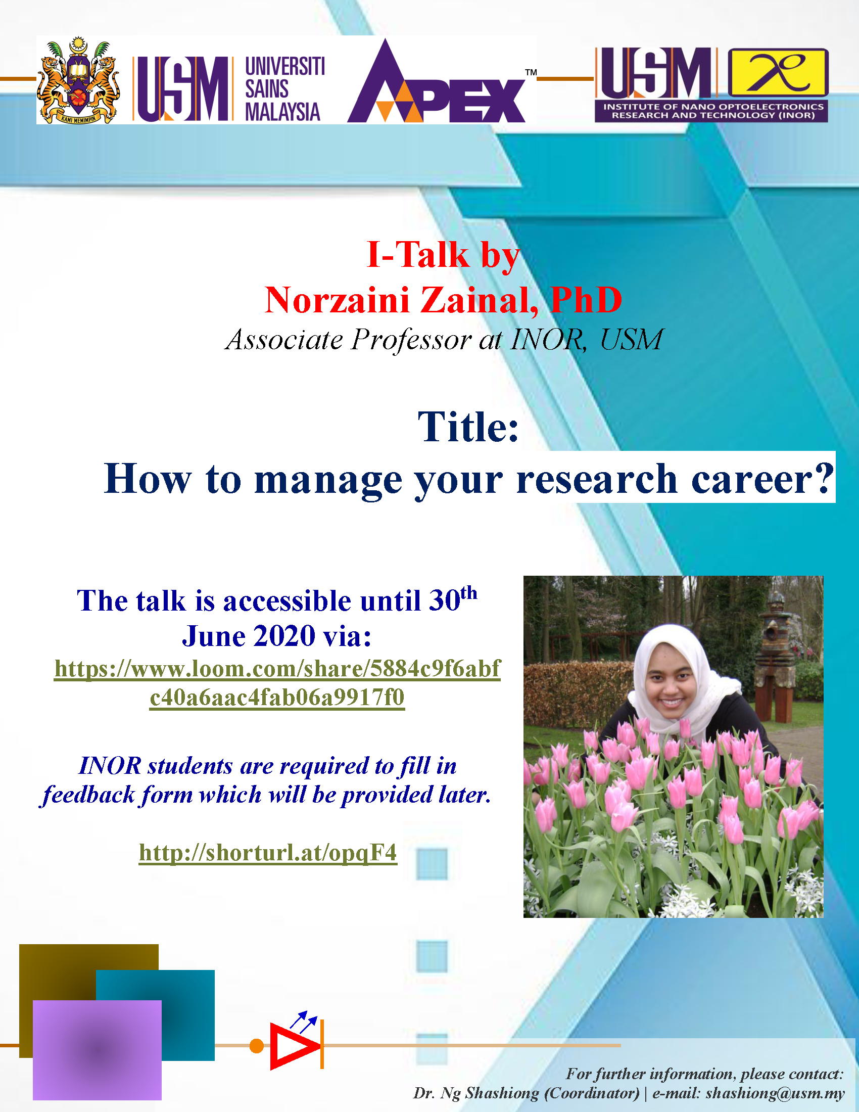 I-Talk: How to manage your research career?