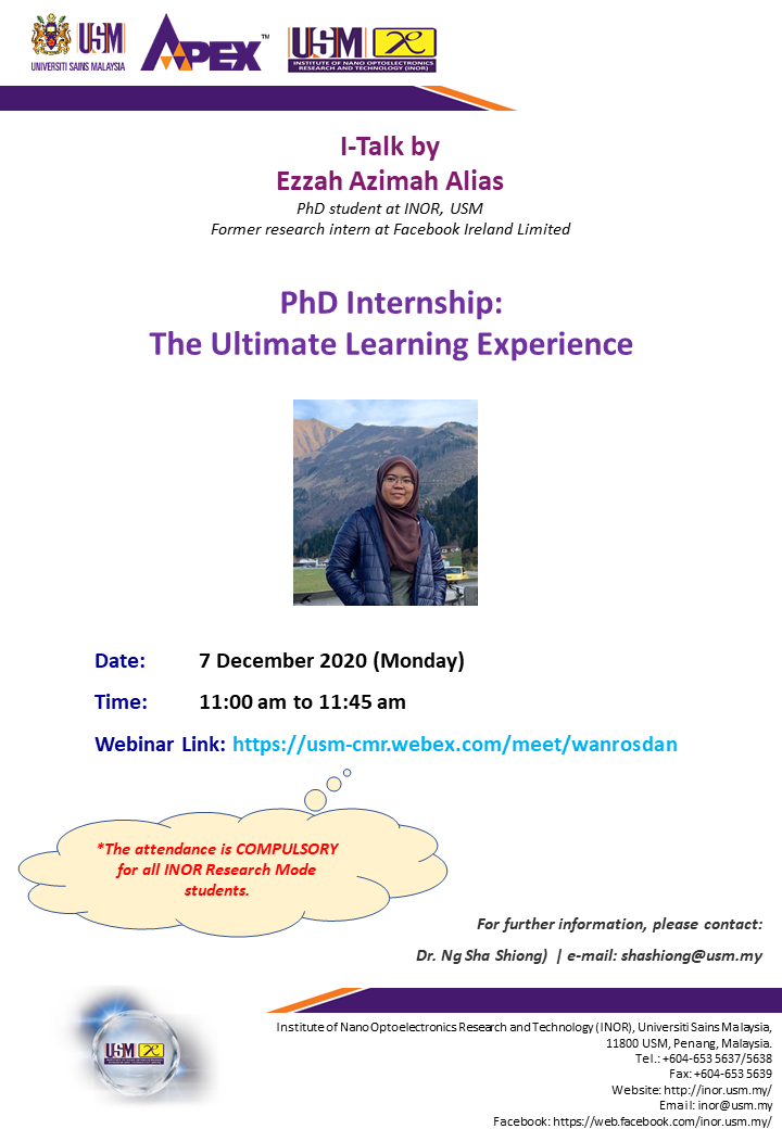 I-Talk : PhD Internship: The Ultimate Learning Experience